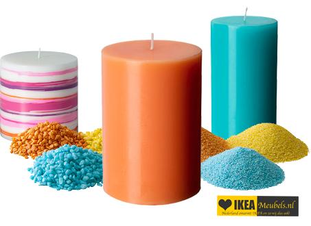 ikea kaarsen met zand